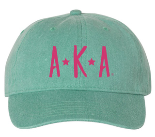 Alpha Kappa Alpha Comfort Colors Starry Night Pigment Dyed Baseball Cap