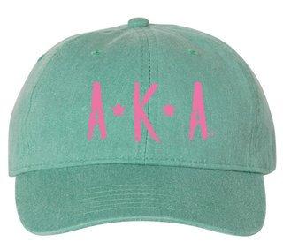 Alpha Kappa Alpha Comfort Colors Starry Night Pigment Dyed Baseball Cap