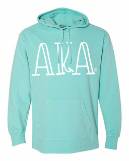 Alpha Kappa Alpha Comfort Colors - Terry Scuba Neck Greek Hooded Pullover