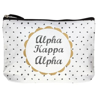 Alpha Kappa Alpha Cotton Canvas Makeup Bags