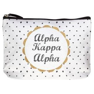 Alpha Kappa Alpha Cotton Canvas Makeup Bags