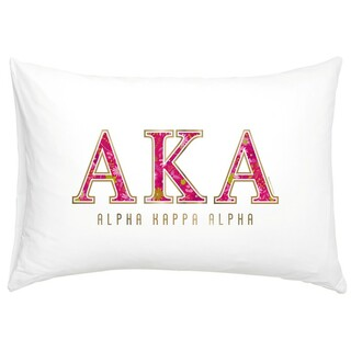 Alpha Kappa Alpha Cotton Knit Pillowcase