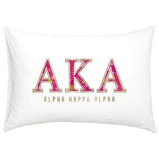 Alpha Kappa Alpha Cotton Knit Pillowcase