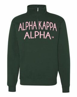 Alpha Kappa Alpha Over Zipper Quarter Zipper Sweatshirt