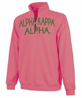 Alpha Kappa Alpha Crosswind Over Zipper Quarter Zipper Sweatshirt