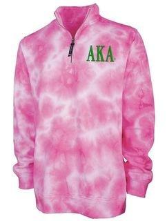 Alpha Kappa Alpha Crosswind Tie-Dye Quarter Zip Sweatshirt