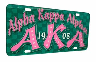 Alpha Kappa Alpha D9 Founders License Plates