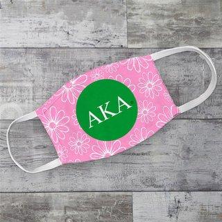 Alpha Kappa Alpha Daisies Face Mask