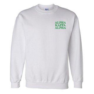 Alpha Kappa Alpha Embroidered Name Crewneck