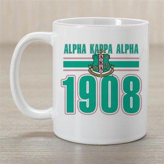 Alpha Kappa Alpha Established Year Coffee Mug