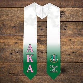 Alpha Kappa Alpha Extra Fancy Greek Class Of 2022 Graduation Stole