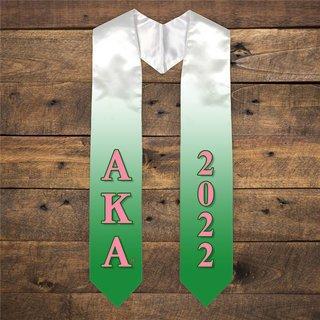 Alpha Kappa Alpha Extra Fancy Greek Graduation Stole W Year