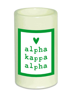Alpha Kappa Alpha Flameless Candle