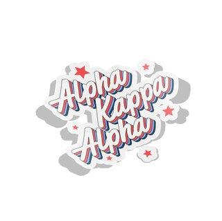 Alpha Kappa Alpha Flashback Decal Sticker