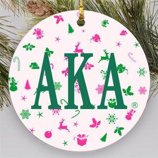 Alpha Kappa Alpha Holiday Cheer Ornaments