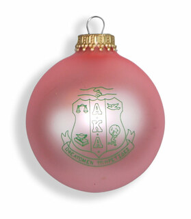 Alpha Kappa Alpha Glass Christmas Ornament