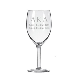 Alpha Kappa Alpha Goblet (2 to a Set)