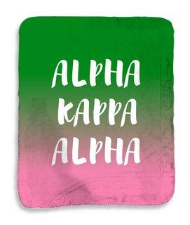 Alpha Kappa Alpha Gradient Sherpa Lap Blanket
