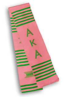 Alpha Kappa Alpha Graduation Stole - FREE GROUND SHIPPING