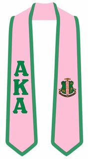 Fraternity & Sorority 2 Tone Lettered Graduation Sash Stole