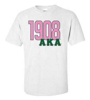 Alpha Kappa Alpha Greek Established Year Tee