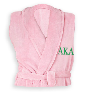 Alpha Kappa Alpha Greek Letter Bathrobe