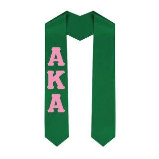 Alpha Kappa Alpha Greek Lettered Graduation Sash Stole - Best Value