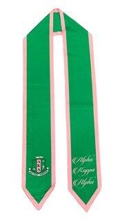 Alpha Kappa Alpha Greek Pink & Green Graduation Sash