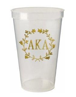 Alpha Kappa Alpha Greek Wreath Giant Plastic Cup