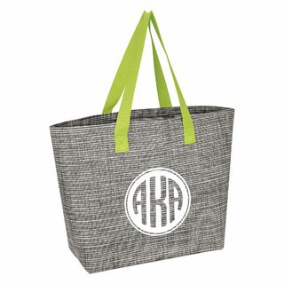 Alpha Kappa Alpha Heathered Mesh Tote Bag