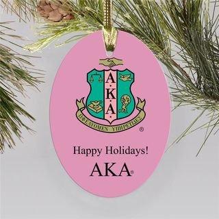 Alpha Kappa Alpha Holiday Color Crest - Shield Ornament