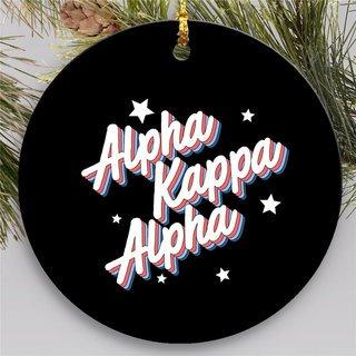 Alpha Kappa Alpha Holiday Flashback Ornaments