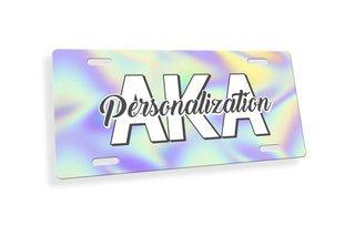 Alpha Kappa Alpha Holla License Plate