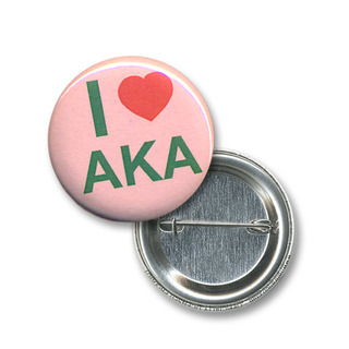 Alpha Kappa Alpha I Love Mini Sorority Buttons