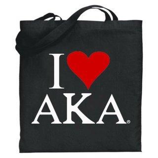 Alpha Kappa Alpha I Love Tote Bags
