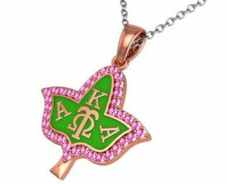 Alpha Kappa Alpha Ivy Leaf Silver Necklace