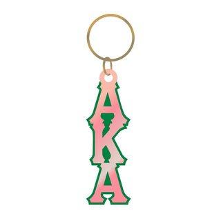 Alpha Kappa Alpha Large Letter Keychain, Mirror