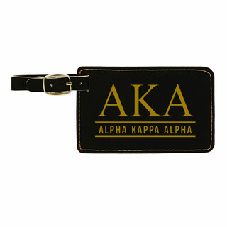 Alpha Kappa Alpha Leatherette Luggage Tag