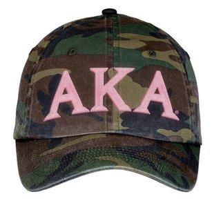 Alpha Kappa Alpha Lettered Camouflage Hat