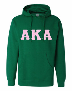 Alpha Kappa Alpha Lettered Independent Trading Co. Hooded Pullover Sweatshirt