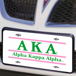 Alpha Kappa Alpha Lettered Lines License Cover