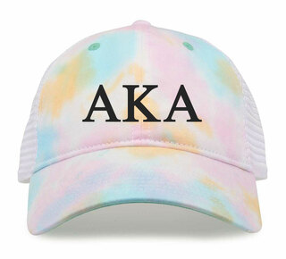 Alpha Kappa Alpha Lettered Rainbow Cap