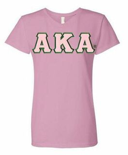 DISCOUNT-Alpha Kappa Alpha Lettered V-Neck Tee