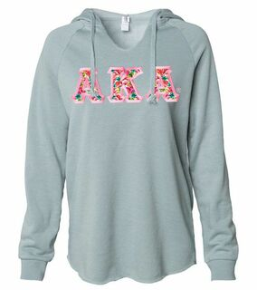 Alpha Kappa Alpha Lightweight California Wavewash Hooded Pullover Sweatshirt
