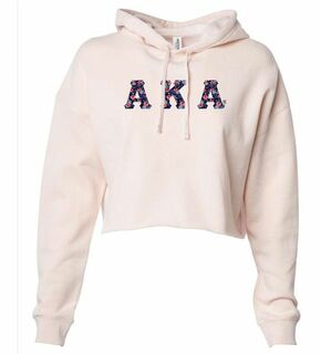 Alpha Kappa Alpha Lightweight Hooded Pullover Crop Sweatshirt