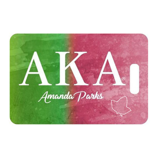 Alpha Kappa Alpha Luggage Tags