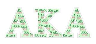 "Alpha Kappa Alpha Mascot Greek Letter Sticker - 2.5"" Tall"