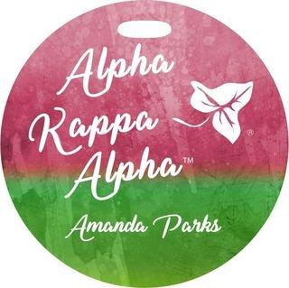 Alpha Kappa Alpha Watercolor Luggage Tag