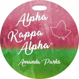 Alpha Kappa Alpha Watercolor Luggage Tag