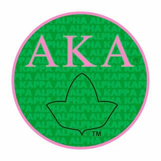 Alpha Kappa Alpha Mascot Round Decals